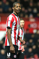 Ethan Pinnock of Brentford during Brentford vs Leeds United, Sky Bet EFL Championship Football at Griffin Park on 11th February 2020