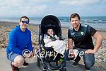 Enjoying a coffee and a stroll on Banna beach on Easter Sunday, l to r: Kevin Gorman, Killian and Jason O'Connor.