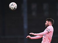 9th January 2021; Memorial Stadium, Bristol, England; English FA Cup Football, Bristol Rovers versus Sheffield United; Oliver Norwood of Sheffield United leaps high and heads the ball clear