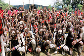 Lolgorian, Kenya. Eunoto coming of age ceremony; moran Maasai warriors with traditional white chalk mud body paint.