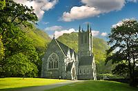 Gothic Church, Mary Henry's Memorial at the Kylemore Abbey. Connemara region, ireland