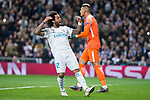 Real Madrid Marcelo and PSG Alhonse Areola during Eight Finals Champions League match between Real Madrid and PSG at Santiago Bernabeu Stadium in Madrid , Spain. February 14, 2018. (ALTERPHOTOS/Borja B.Hojas)