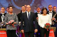 ---- NO TABLOIDS NO SITE WEB --- MONACO LE 16 MARS 2016 50Eme ANNIVERSAIRE DE LA COMPAGNIE DES CARABINIERS DU PRINCE CONCERT DE GALA ‡ l'Auditorium Rainier III en prÈsence du prince Albert de Monaco, de la princesse Caroline de Hanovre et la princesse Stephanie de Monaco