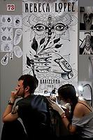 Rebeca Lopez from Barcelona<br /> Roma 05/05/2017. Palazzo delle Esposizioni. International Tattoo Expo 2017. La manifestazione accoglie alcuni tra i più' grandi tatuatori provenienti da tutto il mondo.<br /> Rome May 5th 2017. International Tattoo Expo 2017. The meeting gathers some of the most famous tattoo artists from all over the world.<br /> Foto Samantha Zucchi Insidefoto