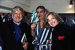 PAOLO VILLAGGIO CON CARMELO BENE E IRENE GHERGO<br /> TEATRO QUIRINO ROMA 1988