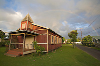 Historic church in Haleiwa, near Waialua town, North Shore of Oahu
