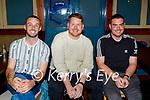 Enjoying the evening in the White Sands in Ballyheigue on Sunday, l to r: Mark O'Regan, Jack Duggan and Joe O'Halloran.