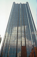 "Philip Johnson & John Burgee: PPG Place, The Tower. 40 stories, 630 ft. ""Inspired by Victoria Tower, House of Parliament.""   Photo '01."
