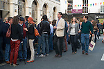Belgravia Kinnerton Street drinkers party goers outside the Pantechnicon Pub, London Uk. Motcomb Street, annual street party. July