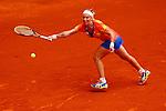 Russian tennis player Svetlana Kuznetsova during Madrid Open Tennis 2014 match. May 07, 2014. (ALTERPHOTOS/Victor Blanco)