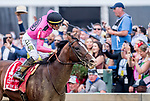 May 18, 2019 : War of Will #1, ridden by Tyler Gaffalione, wins the Preakness Stakes on Preakness Day at Pimlico Race Course in Baltimore, Maryland. Scott Serio/Eclipse Sportswire/CSM