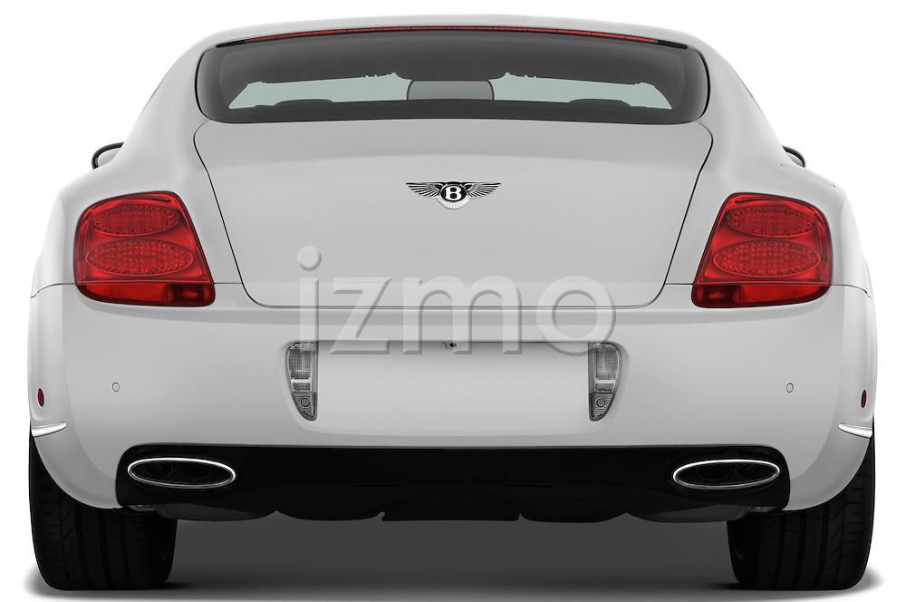 Straight rear view of a 2008 - 2012 Bentley Continental GT Speed Coupe.