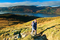 Loch Lomond and The Luss Hills from the Munro of Ben Lomond, Loch Lomond and the Trossachs National Park, Stirlingshire