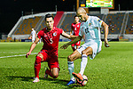 Yaseen Bakheet of Jordan(R) fights for the ball with Lee Chi Ho of Hong Kong (L) during the International Friendly match between Hong Kong and Jordan at Mongkok Stadium on June 7, 2017 in Hong Kong, China. Photo by Marcio Rodrigo Machado / Power Sport Images