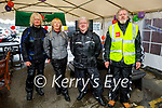 """Attending the 200km Motorbike Run in aid of """"Lifeline for Lucy"""" in Kerins O'Rahillys GAA Club on Sunday. L to r: Niall and Carol Hanley (Maherees), Packie Cronin (Lixnaw) and John Rice (Camp)."""