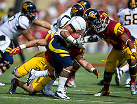 LOS ANGELES, CA - September 22, 2012:  Cal Bears running back Isi Sofele (20) during the USC Trojans vs the Cal Bears at the Los Angeles Memorial Coliseum in Los Angeles, CA. Final score USC 27, Cal 9..