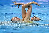 DAABOUSOVA Nada / MISKECHOVA Diana SVK <br /> Duet Free - Preliminary<br /> Artistic Swimming<br /> Budapest  - Hungary  11/5/2021<br /> Duna Arena<br /> XXXV LEN European Aquatic Championships<br /> Photo Andrea Staccioli / Deepbluemedia / Insidefoto