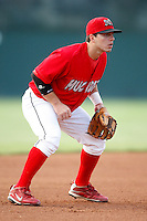 July 24, 2009:  Third Baseman Alan Ahmady of the Batavia Muckdogs during a game at Dwyer Stadium in Batavia, NY.  The Muckdogs are the NY-Penn League Short-Season Class-A affiliate of the St. Louis Cardinals.  Photo By Mike Janes/Four Seam Images