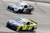 #19: Brandon Jones, Joe Gibbs Racing, Toyota Supra Menards/Pelonis, #61: Stephen Leicht, Hattori Racing Enterprises, Toyota Camry JANIKING