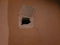 """Pictured: The cavity in the wall where drugs were discovered by police at the house of Susan Marie Proffitt in Aberystwyth, Wales, UK.<br /> Re: Susan Marie Proffitt, and an organised crime gang disrupted, after heroin worth £45,000 was found at her home in Aberystwyth, Wales, UK.<br /> Dyfed-Powys Police found more than 400g of the class A drug during a warrant at Proffitt's home – resulting in one of the force's largest single seizures of heroin in Ceredigion.<br /> The result has disrupted an active organised crime gang supplying class A drugs to the area.<br /> Sergeant Steven Jones said: """"This swift and thorough investigation involved officers and staff from departments across the division, who worked together to secure this result.<br /> """"The defendant had a huge amount of heroin at her home, with efforts taken to conceal bags of the drug around the property.<br /> """"There is no doubt that in taking Proffitt out of the supply chain we will have disrupted an organised crime gang which she was a trusted part of in supplying heroin into the division.""""<br /> Officers carried out a warrant at the 52-year-old's home in South Road on August 30, 2020.<br /> On searching the property, a box containing 408g of heroin was found concealed in a vent under the staircase, and two further wraps were found in a shower head bracket. Fingerprint marks matching those of Proffitt were found on these items.<br /> Four mobile phones were also seized from the property.<br /> Sgt Jones said: """"The quantity of heroin recovered is far in excess of what he would expect to see someone who is simply a user to be in possession of for their own use.<br /> """"Given the value of the heroin recovered and the financial circumstances of the defendant, we were confident it was unlikely she would be able to fund a purchase of such a quantity of heroin without being involved in the supply of drugs.<br /> """"The only realistic reason for possessing this quantity of heroin was for supply onto others.""""<br />"""