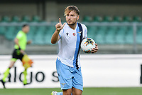 Ciro Immobile of SS Lazio celebrates after scoring a goal during the Serie A football match between Hellas Verona and SS Lazio at stadio Marcantonio Bentegodi in Verona (Italy), July 26th, 2020. Play resumes behind closed doors following the outbreak of the coronavirus disease. <br /> Photo Daniele Buffa / Image Sport / Insidefoto