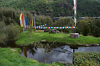 Bhutan, Paro, the grounds of Zhiwa Ling Hotel.