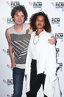 "director, Mark Cousins and Neneh Cherry<br /> at the London Film Festival 2016 premiere of ""Stockholm My Love"" at the Odeon Leicester Square, London.<br /> <br /> <br /> ©Ash Knotek  D3175  11/10/2016"