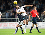 Dundee v St Johnstone...15.08.15  SPFL   Dens Park, Dundee<br /> Simon Lappin and Paul McGowan<br /> Picture by Graeme Hart.<br /> Copyright Perthshire Picture Agency<br /> Tel: 01738 623350  Mobile: 07990 594431