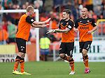 Dundee United v St Johnstone...27.09.14  SPFL<br /> Paul Paton celebrates scoring Dundee United's second goal<br /> Picture by Graeme Hart.<br /> Copyright Perthshire Picture Agency<br /> Tel: 01738 623350  Mobile: 07990 594431