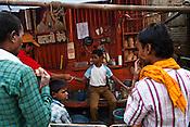 A chai (tea) shop in the ancient city of Varanasi in Uttar Pradesh, India. Photograph: Sanjit Das/Panos