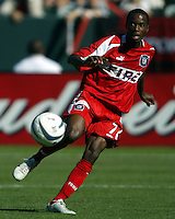 DaMarcus Beasley in action during MLS Cup 2003.  The San Jose Earthquakes defeated the Chicago Fire 4-2 in the MLS Championship at The Home Depot Center on November 23, 2003.