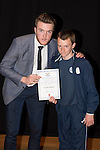 St Johnstone FC Academy Awards Night...06.04.15  Perth Concert Hall<br /> Zander Clark presents a certificate to Jordan Walker<br /> Picture by Graeme Hart.<br /> Copyright Perthshire Picture Agency<br /> Tel: 01738 623350  Mobile: 07990 594431