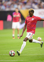 Houston, TX - Tuesday June 21, 2016: Gyasi Zardes prior to a Copa America Centenario semifinal match between United States (USA) and Argentina (ARG) at NRG Stadium.