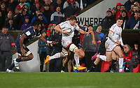 Friday 22nd November 2019   Ulster Rugby vs Clermont Auvergne<br /> <br /> Jordi Murphy during the Heineken Champions Cup Pool 3 Round 2 match between Ulster Rugby  and Clermont Auvergne at Kingspan Stadium, Ravenhill Park, Belfast, Northern Ireland. Photo by John Dickson/DICKSONDIGITAL