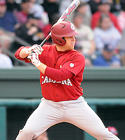 USC catcher Kyle Enders (18) during a game between the Furman Paladins and South Carolina Gamecocks Tuesday, March 16, 2010, at Fluor Field at the West End in Greenville, S.C. Photo by: Tom Priddy/Four Seam Images