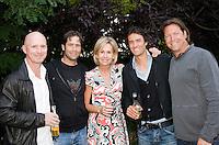 28-6-08, England, Wimbledon, Tennis, Octagon 25 years celebration BBQ, Dutch coaches Rohan Goetzke, Glenn Schaap, Managing Director Octagon Micky Lawler, John van Lottum and Sven Groeneveld.