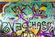 Graffiti at Odiorne Point State Park in Rye, New Hampshire USA during the spring months