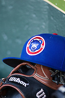 South Bend Cubs hat on May 18, 2016 at Dow Diamond in Midland, Michigan. (Andrew Woolley/Four Seam Images)