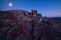 Moonrise at Blackrock Summit, Shenandoah National Park