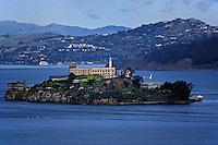 ALCATRAZ ISLAND in SAN FRANCISCO BAY - CALIFORNIA