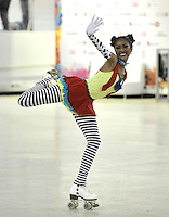 CALI – COLOMBIA – 22 – 09 – 2015: Kayla Rodriguez, deportista de Estados Unidos, Solo Danza Mayores  Damas en el LX Campeonato Mundial de Patinaje Artistico, en el Velodromo Alcides Nieto Patiño de la ciudad de Cali. / Kayla Rodriguez, sportwoman from United States, during the Senior Solo Dance, in the LX World Championships Figure Skating, at the Alcides Nieto Patiño Velodrome in Cali City. Photo: VizzorImage / Luis Ramirez / Staff.