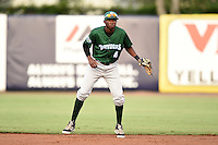 Daytona Tortugas second baseman Carlton Daal (4) during a game against the Tampa Yankees on April 24, 2015 at George M. Steinbrenner Field in Tampa, Florida.  Tampa defeated Daytona 12-7.  (Mike Janes/Four Seam Images)