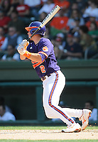 Infielder Jason Stolz (2) of the Clemson Tigers in a game against the Michigan State Spartans on Sunday, Feb. 27, 2011, at Fluor Field in Greenville, S.C. Photo by Tom Priddy/Four Seam Images