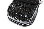 Car stock 2018 Volkswagen Golf Alltrack TSI SEL 4Motion DSG 5 Door Wagon engine high angle detail view
