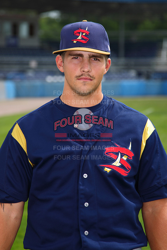 State College Spikes pitcher Josh Poytress #29 poses for a photo before a game against the Batavia Muckdogs at Dwyer Stadium on July 7, 2011 in Batavia, New York.  Batavia defeated State College 16-3.  (Mike Janes/Four Seam Images)