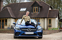 BNPS.co.uk (01202) 558833. <br /> Pic: CorinMesser/BNPS<br /> <br /> Pictured: James Cowe with the Mercedes he treated himself to last week. <br /> <br /> An NHS worker who quit his job to become an online male stripper now earns £70,000 a month. <br /> <br /> James Cowe, 23, worked as a healthcare assistant for six years before becoming demoralised at struggling to get by on his modest salary.<br /> <br /> He decided on a drastic career change and started uploading lewd images of himself on the online sharing platform OnlyFans and things soon took off.