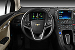 Steering wheel view of a 2011 Chevrolet Volt