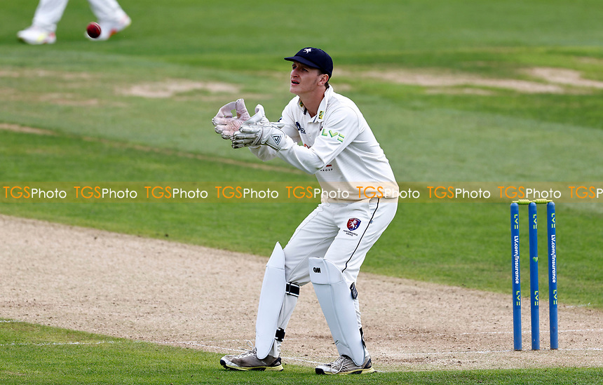 Kent debutant wicket keeper Harry Houillon in action during Kent CCC vs Sussex CCC, LV Insurance County Championship Group 3 Cricket at The Spitfire Ground on 11th July 2021