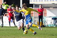 3rd April 2021; Dens Park, Dundee, Scotland; Scottish FA Cup Football, Dundee FC versus St Johnstone; Jamie McCart of St Johnstone and Danny Mullen of Dundee