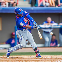 3 March 2016: New York Mets infielder Dilson Herrera in action during a Spring Training pre-season game against the Washington Nationals at Space Coast Stadium in Viera, Florida. The Mets fell to the Nationals 9-4 in Grapefruit League play. Mandatory Credit: Ed Wolfstein Photo *** RAW (NEF) Image File Available ***